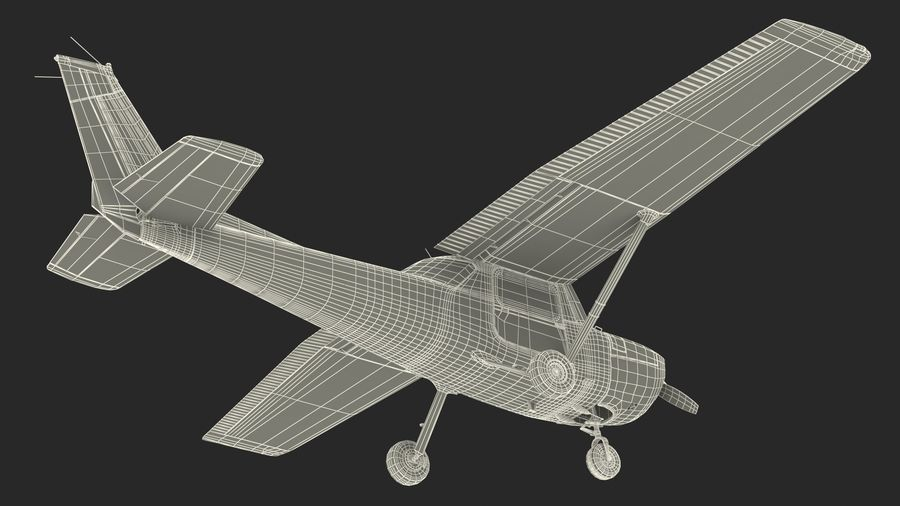 Single Engine Aircraft royalty-free 3d model - Preview no. 23