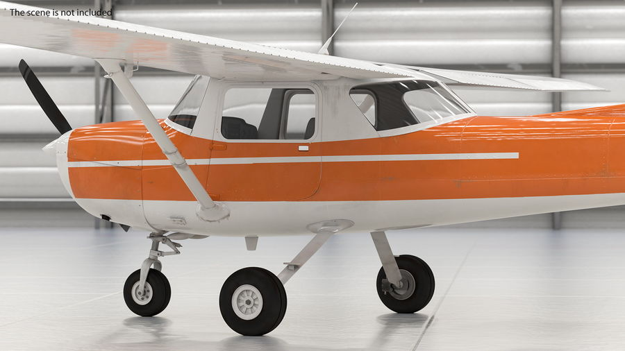Single Engine Aircraft royalty-free 3d model - Preview no. 5