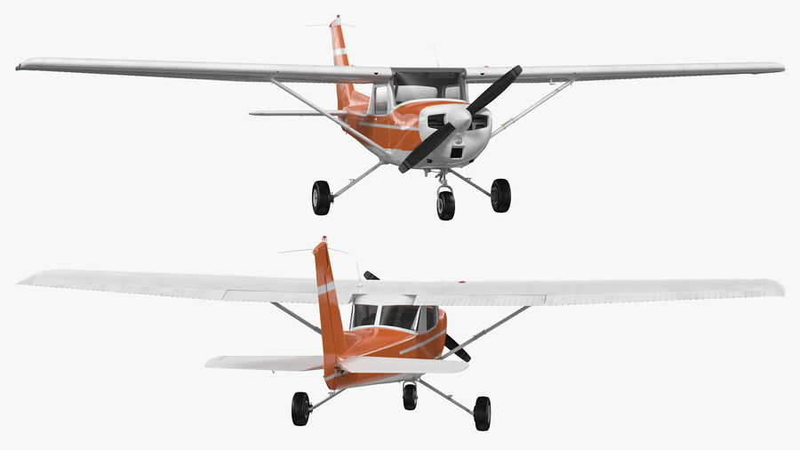 Single Engine Aircraft royalty-free 3d model - Preview no. 9