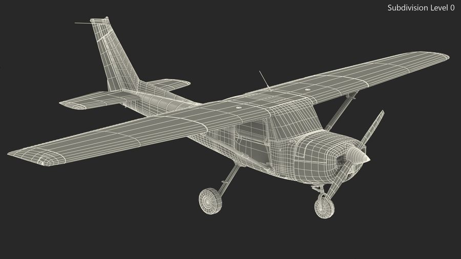 Single Engine Aircraft royalty-free 3d model - Preview no. 18