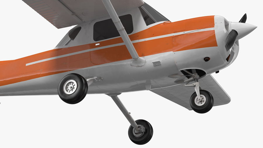 Single Engine Aircraft royalty-free 3d model - Preview no. 12