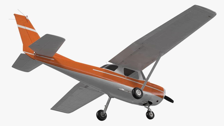 Single Engine Aircraft royalty-free 3d model - Preview no. 11