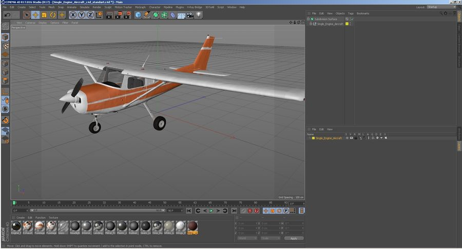 Single Engine Aircraft royalty-free 3d model - Preview no. 29