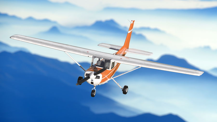 Single Engine Aircraft royalty-free 3d model - Preview no. 6