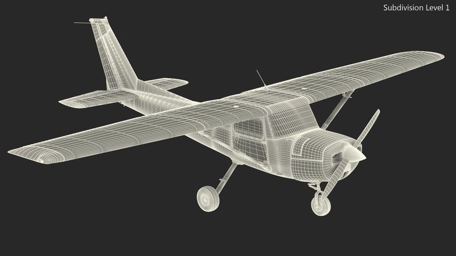 Single Engine Aircraft royalty-free 3d model - Preview no. 19