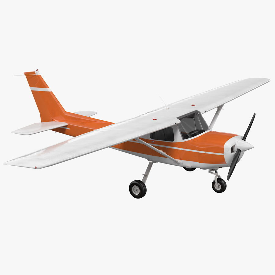 Single Engine Aircraft royalty-free 3d model - Preview no. 1