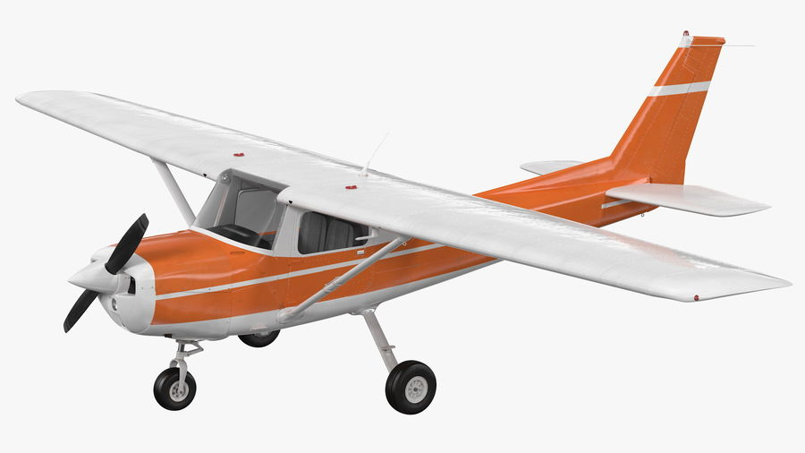 Single Engine Aircraft royalty-free 3d model - Preview no. 2