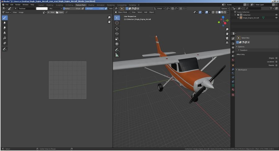 Single Engine Aircraft royalty-free 3d model - Preview no. 28