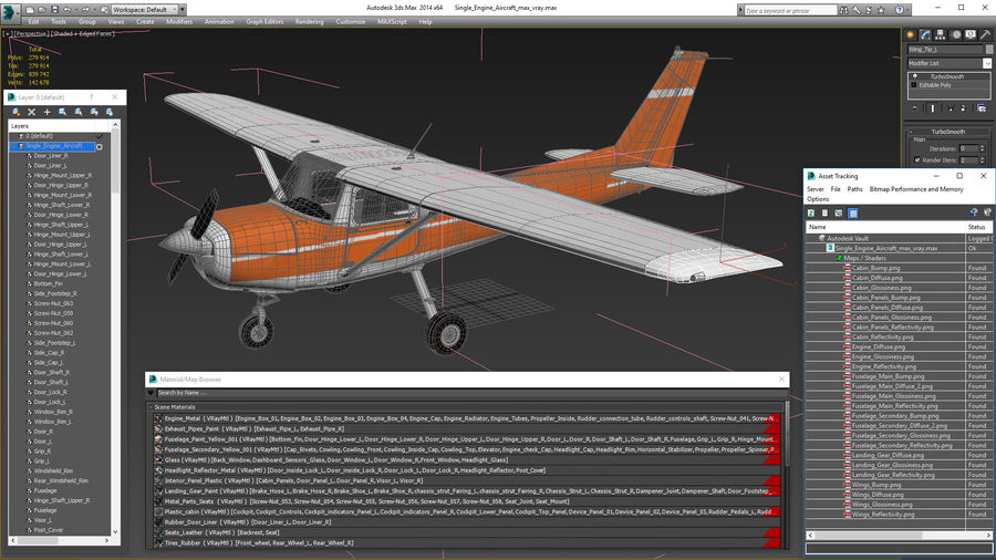 Single Engine Aircraft royalty-free 3d model - Preview no. 22