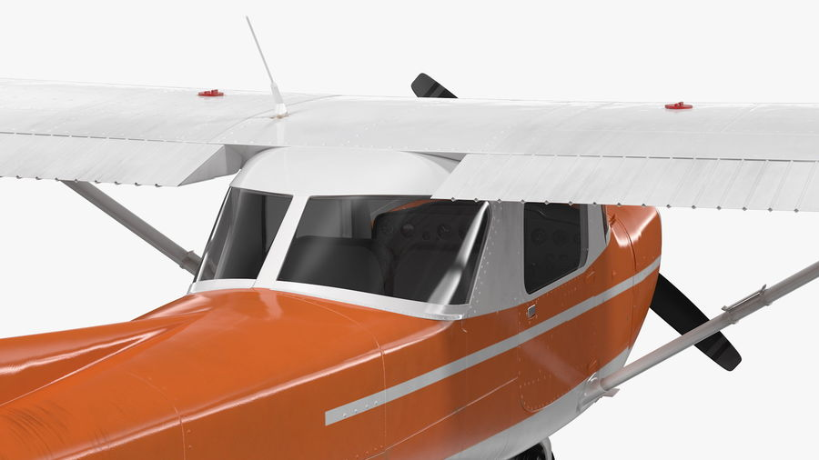 Single Engine Aircraft royalty-free 3d model - Preview no. 14