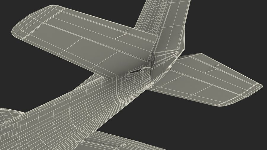 Single Engine Aircraft royalty-free 3d model - Preview no. 25