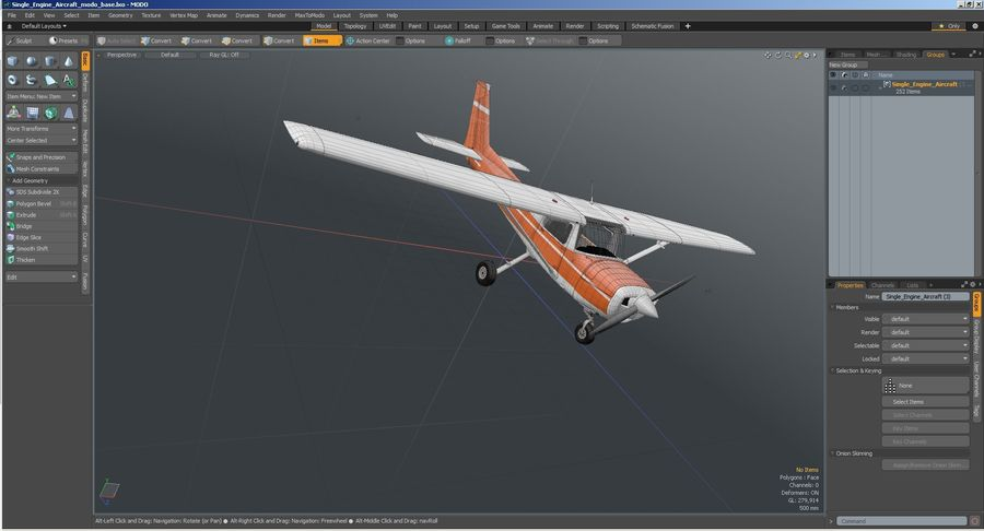 Single Engine Aircraft royalty-free 3d model - Preview no. 31