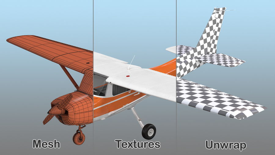 Single Engine Aircraft royalty-free 3d model - Preview no. 17