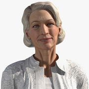 リギングされたカジュアルな服装の高齢者の女性 3d model