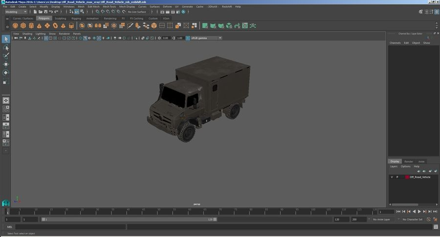 Off Road Vehicle royalty-free 3d model - Preview no. 28