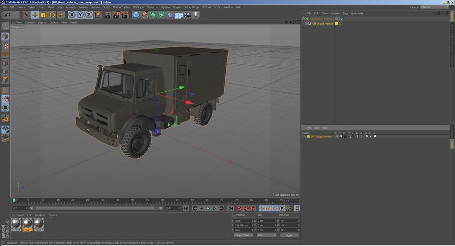 Off Road Vehicle royalty-free 3d model - Preview no. 29