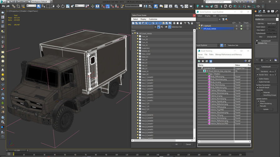 Off Road Vehicle royalty-free 3d model - Preview no. 27