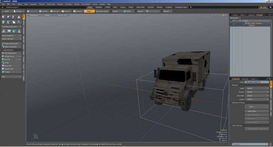 Off Road Vehicle royalty-free 3d model - Preview no. 37