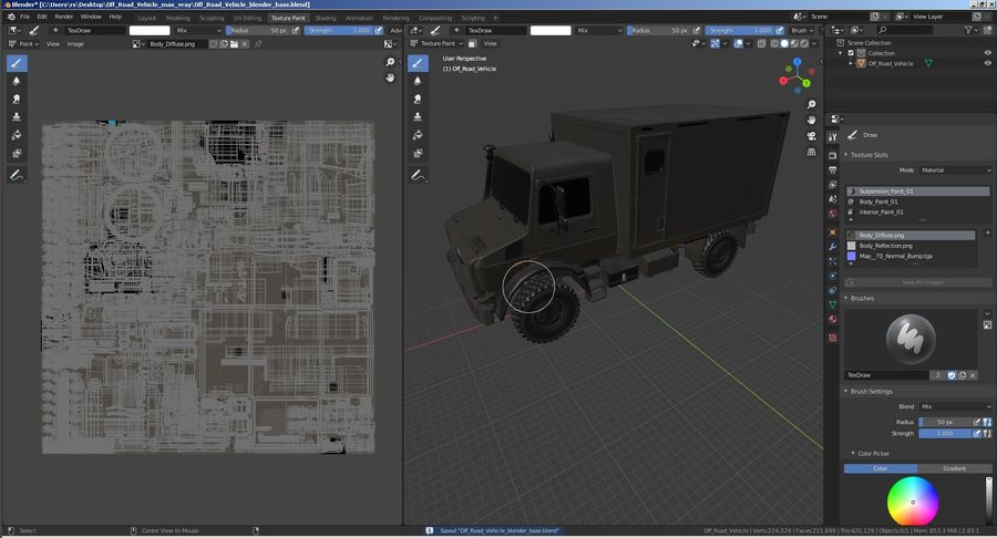 Off Road Vehicle royalty-free 3d model - Preview no. 30