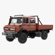 도로화물 트럭 떨어져 3d model