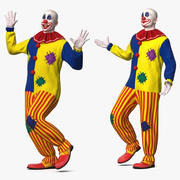 Bald Clown Rigged for Maya 3d model