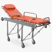 Steel Ambulance Stretcher Krankenhausbett Gurney 3d model