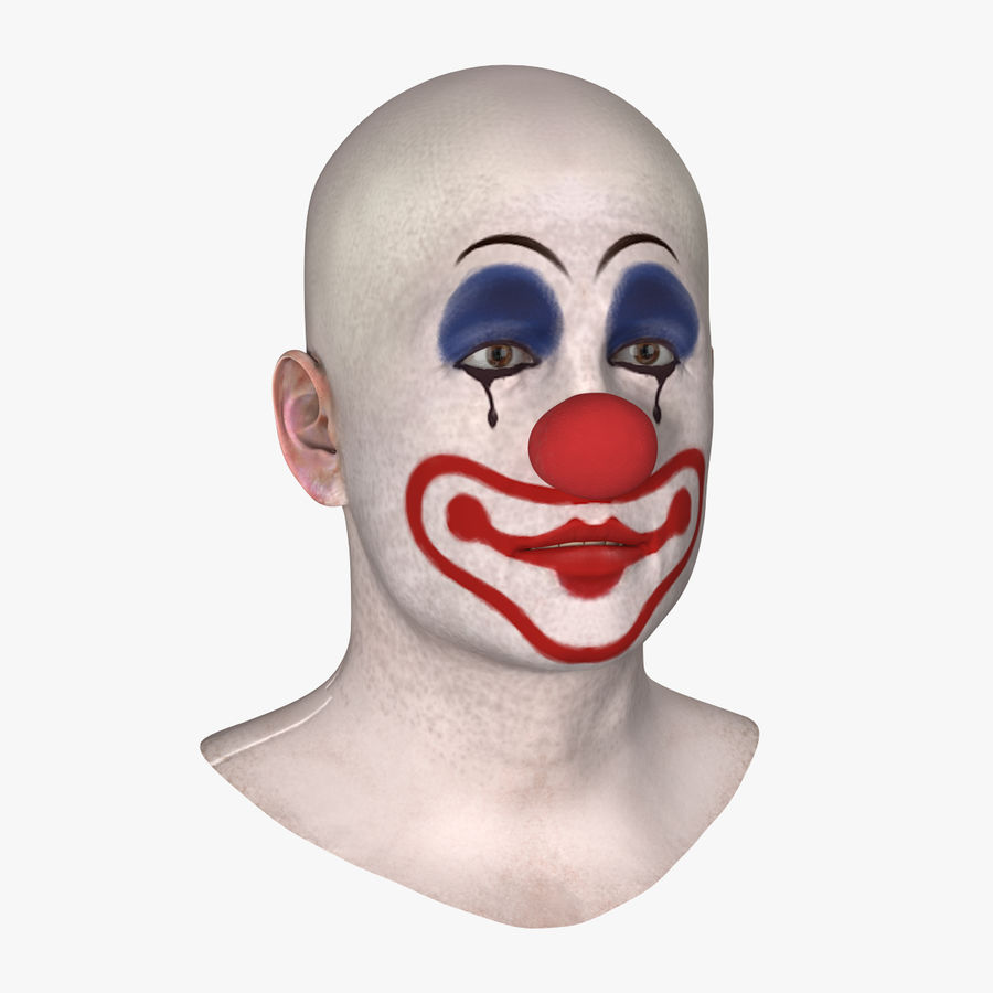 Bald Clown Head royalty-free 3d model - Preview no. 1