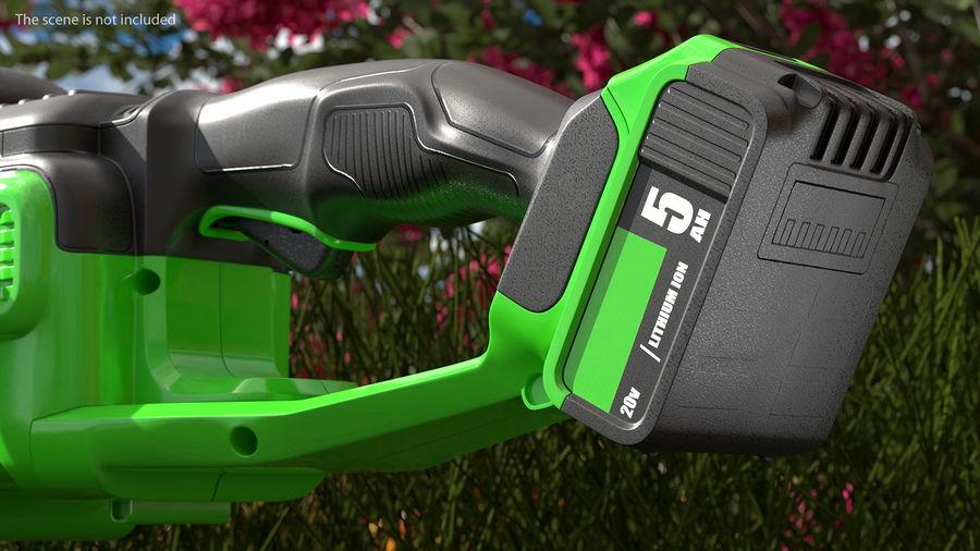 Cortador de sebes elétrico sem fio com bateria de 20 V royalty-free 3d model - Preview no. 7