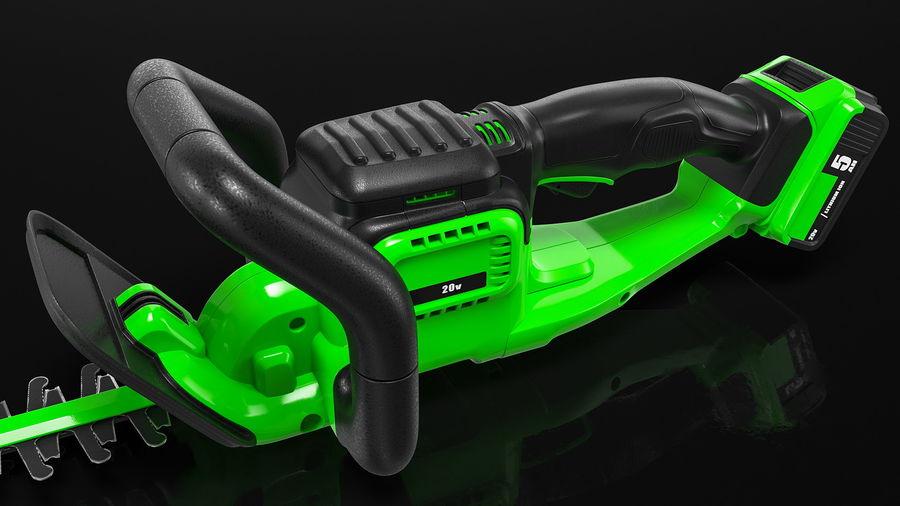 Cortador de sebes elétrico sem fio com bateria de 20 V royalty-free 3d model - Preview no. 9