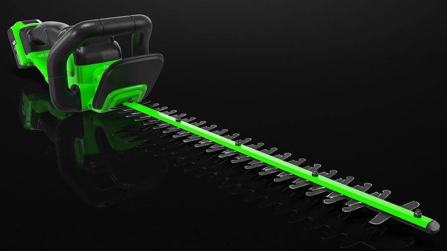 Cortador de sebes elétrico sem fio com bateria de 20 V royalty-free 3d model - Preview no. 8