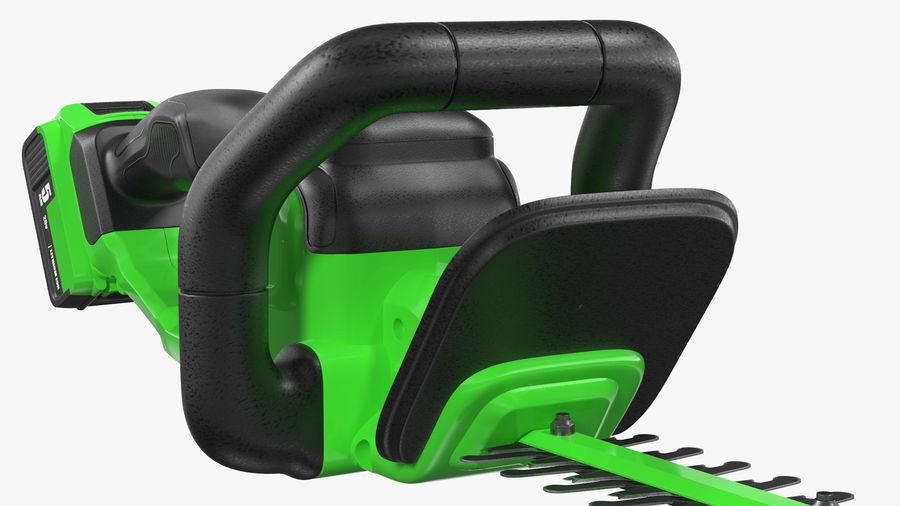 Cortador de sebes elétrico sem fio com bateria de 20 V royalty-free 3d model - Preview no. 11