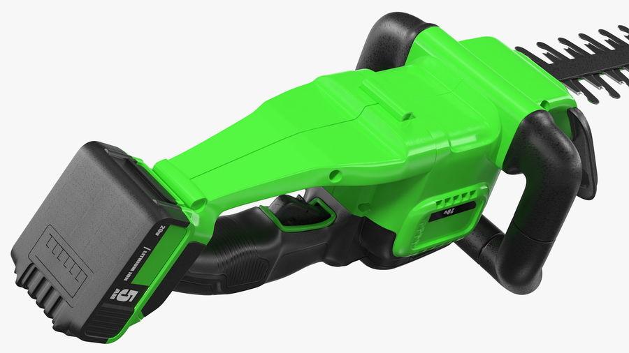 Cortador de sebes elétrico sem fio com bateria de 20 V royalty-free 3d model - Preview no. 13