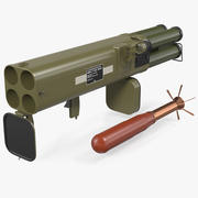 Yakıcı Roketatar M202A1 FLASH Set 3d model
