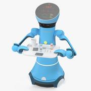 Medicinsk tjänstrobot med medicin 3d model