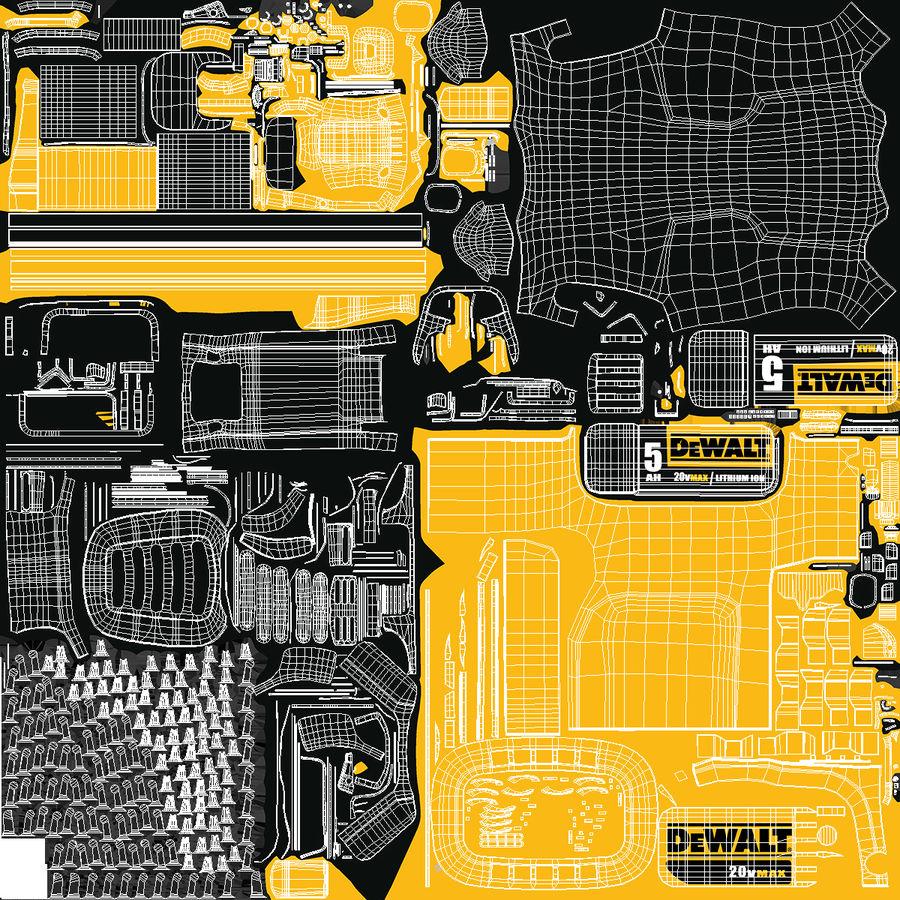 DEWALT DCHT820P1 20V aparador de sebes com pacote 5Ah royalty-free 3d model - Preview no. 19