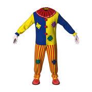 Clown pak voor jongens 3d model