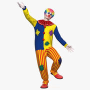 Clown Costume Rigged for Cinema 4D 3d model