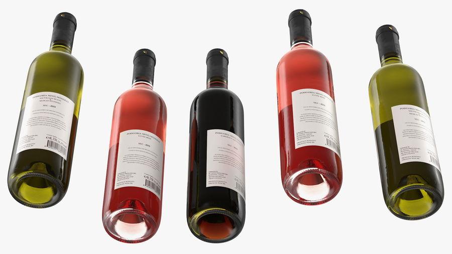 Scaffale pieghevole in legno con bottiglie di vino royalty-free 3d model - Preview no. 17