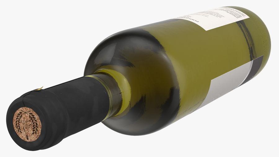 Scaffale pieghevole in legno con bottiglie di vino royalty-free 3d model - Preview no. 19