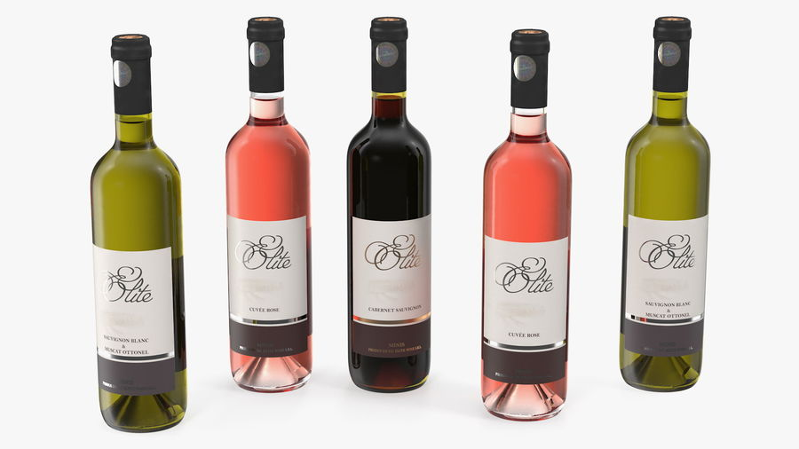 Scaffale pieghevole in legno con bottiglie di vino royalty-free 3d model - Preview no. 16