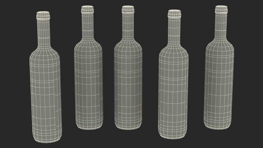 Scaffale pieghevole in legno con bottiglie di vino royalty-free 3d model - Preview no. 34