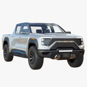 Pickup elettrico Nikola Badger 2022 3d model