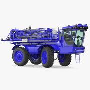 Self Propelled Crop Sprayer Clean Rigged 3d model