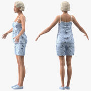 Modoのために装備されたPijamaの高齢者の女性 3d model