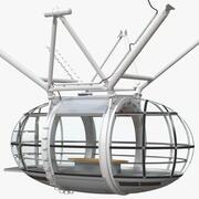 밀레니엄 휠 승객 용 캡슐 3d model