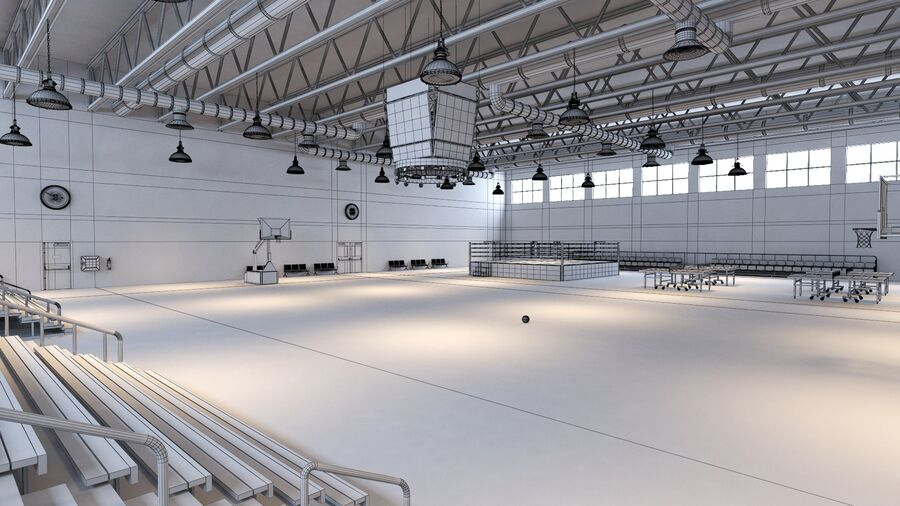 Palestra Palestra Indoor royalty-free 3d model - Preview no. 64