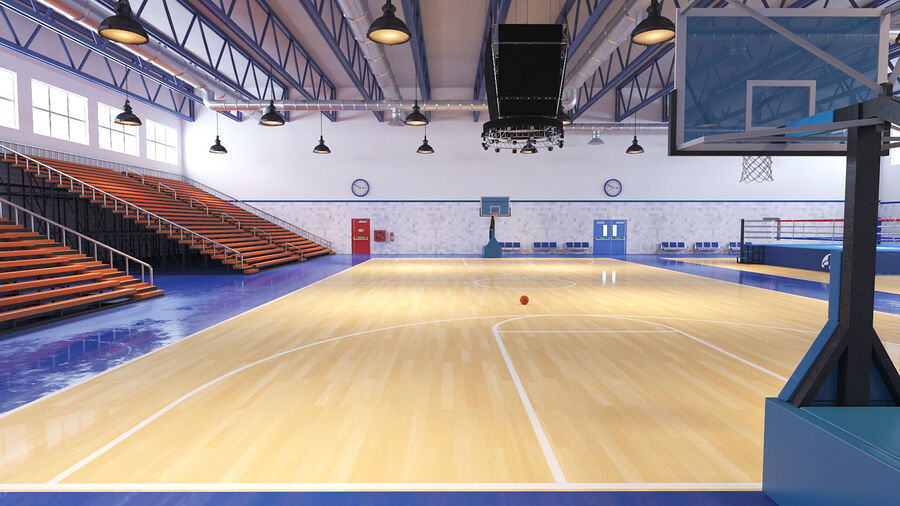 Palestra Palestra Indoor royalty-free 3d model - Preview no. 9