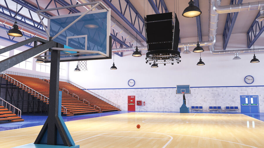Palestra Palestra Indoor royalty-free 3d model - Preview no. 10