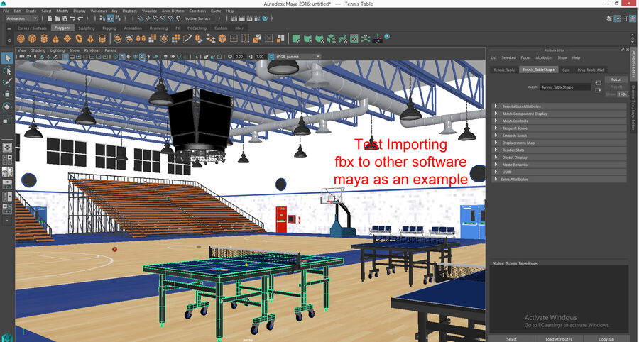 Palestra Palestra Indoor royalty-free 3d model - Preview no. 11