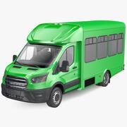 旅客シャトルバス 3d model